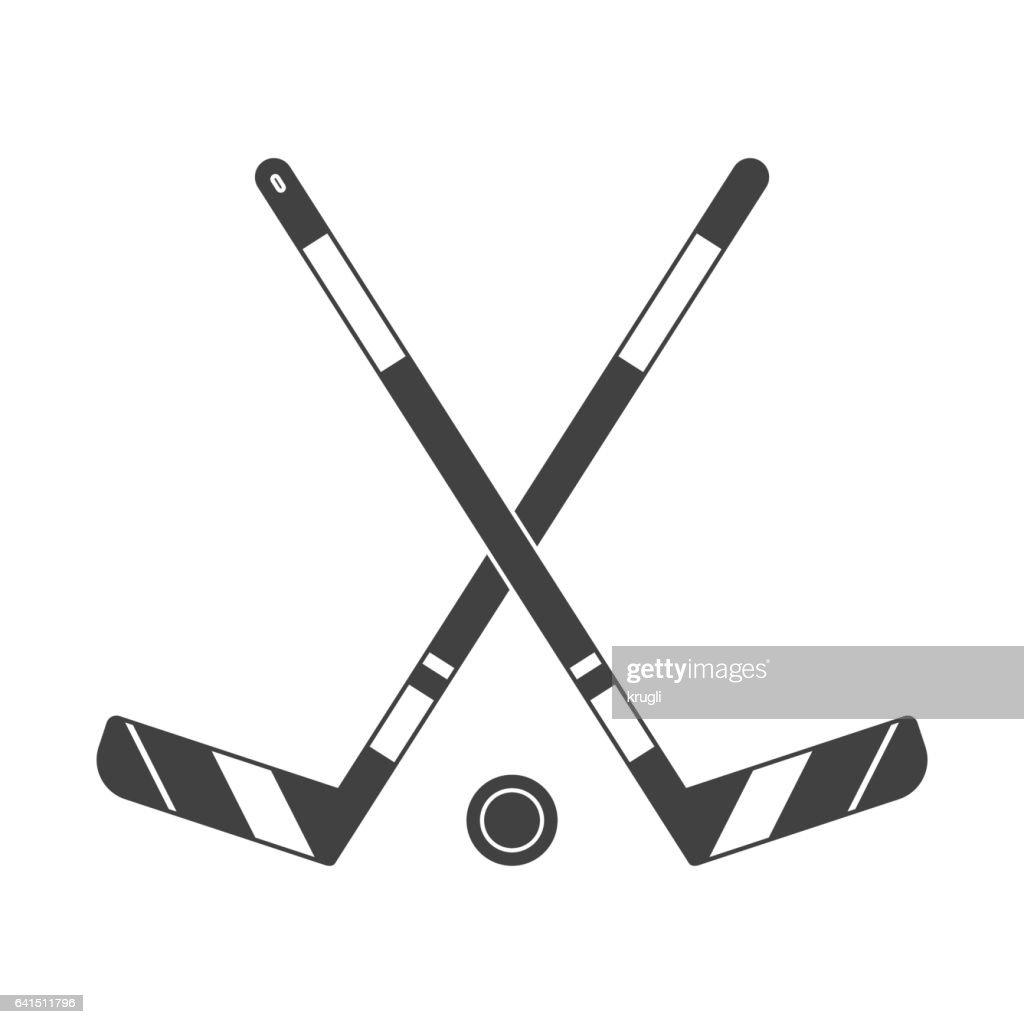 Crossed Hockey Sticks Icon