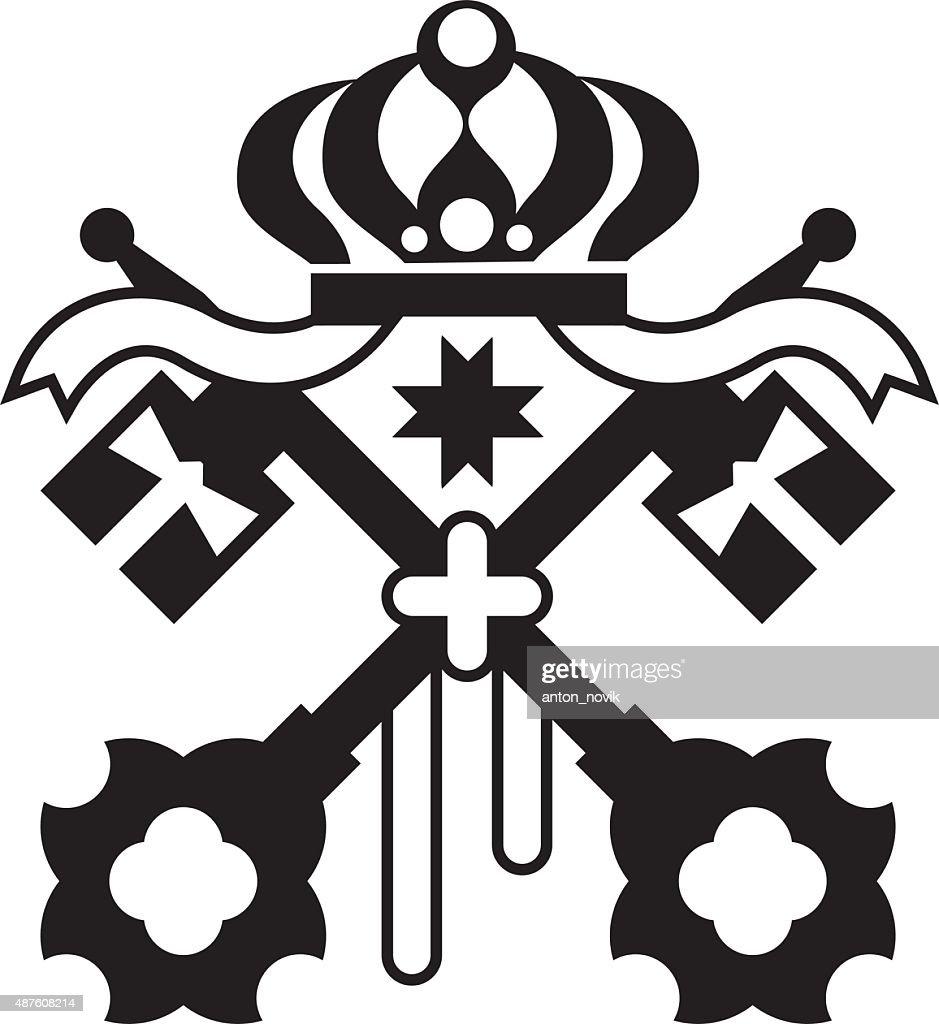 Crossed Keys symbol vector original