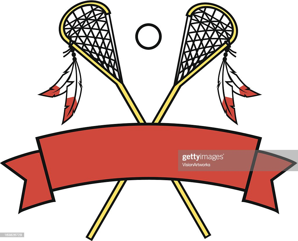 Crossed Lacrosse Sticks