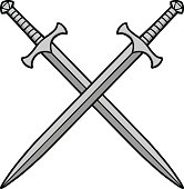 Crossed Swords Illustration