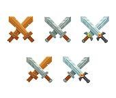 Crossed swords set