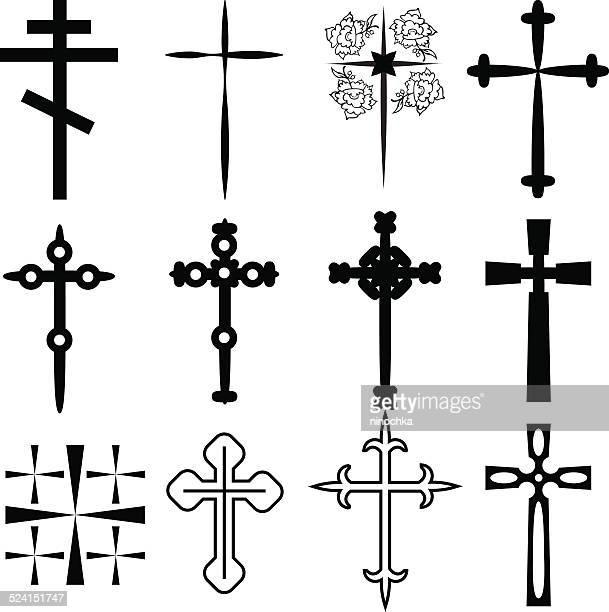 crosses - crucifix stock illustrations, clip art, cartoons, & icons