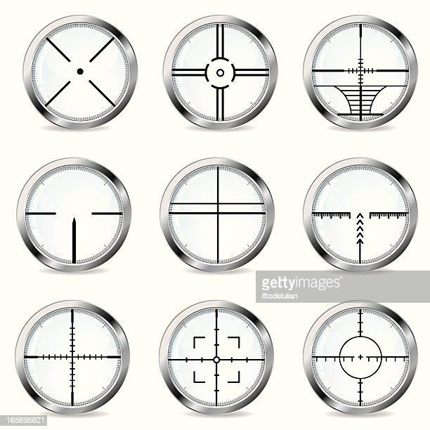 crosshair collection - m14 stock illustrations, clip art, cartoons, & icons