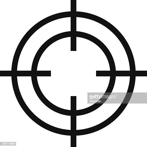 crosshair icon - aiming stock illustrations