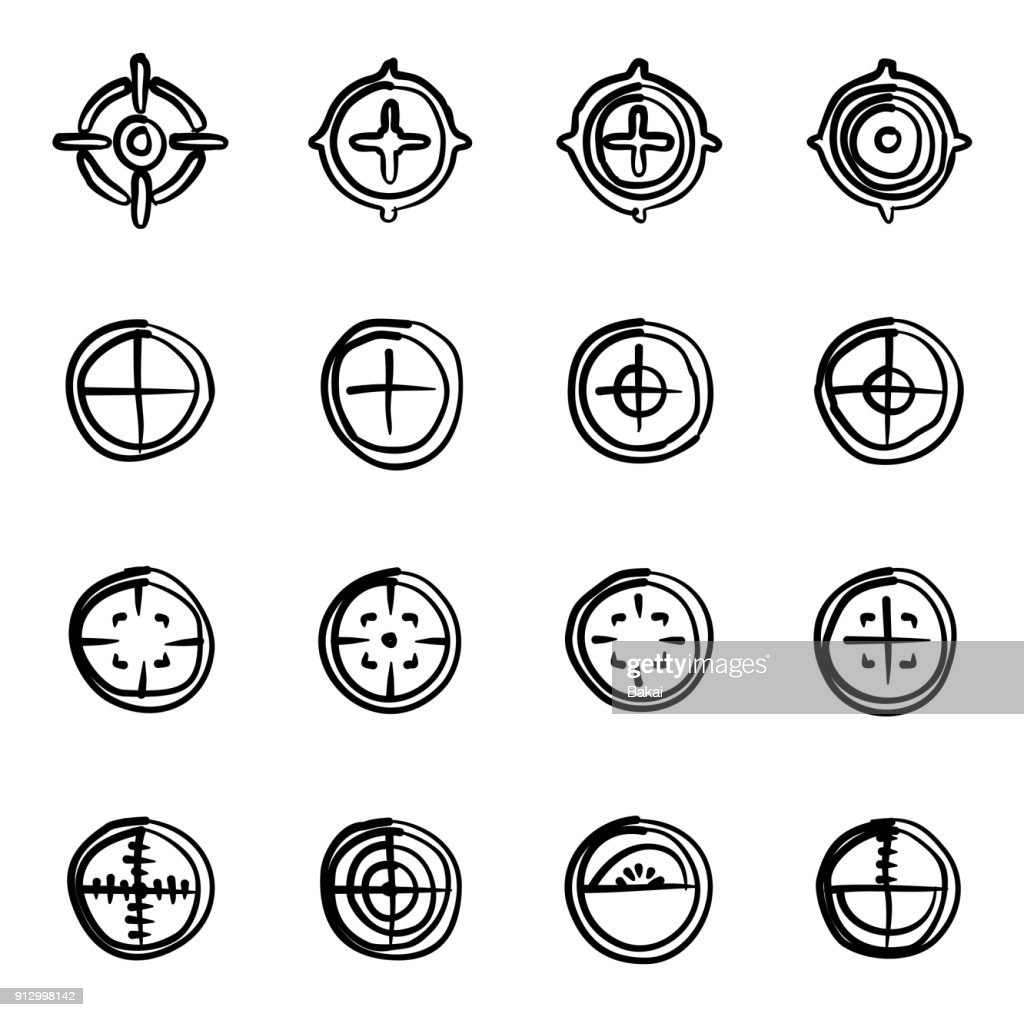 Crosshair Icons Freehand