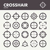 Crosshair. Target and focus symbols