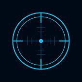 Crosshair, Target icon, vector