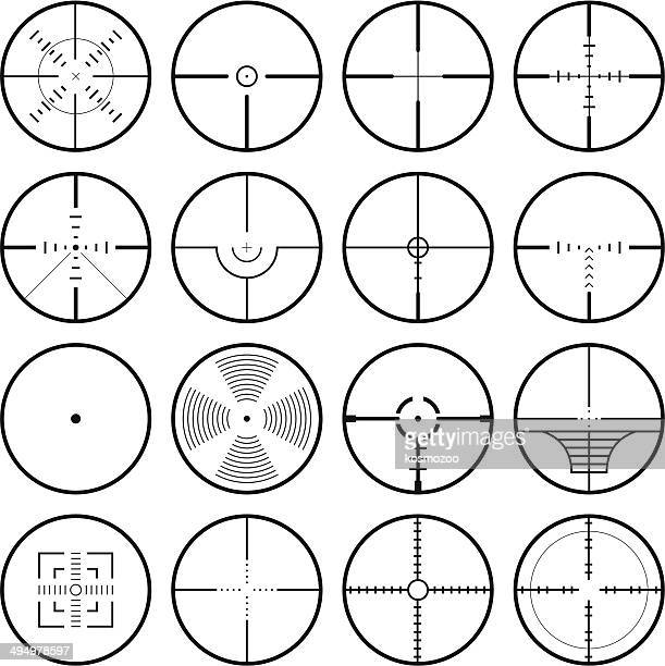 crosshair - accuracy stock illustrations