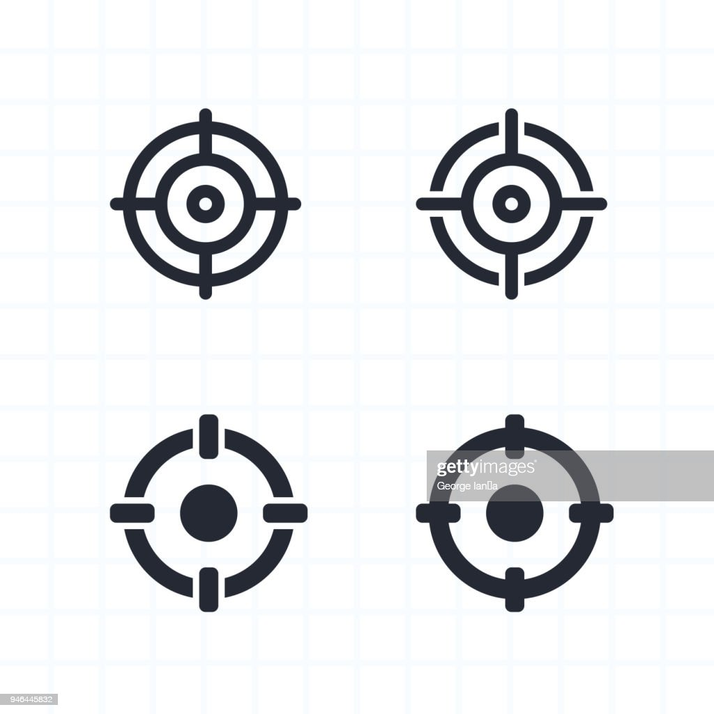 Cross-Hairs - Contour & Cutout Icons