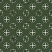 Crosshairs Seamless Military Pattern