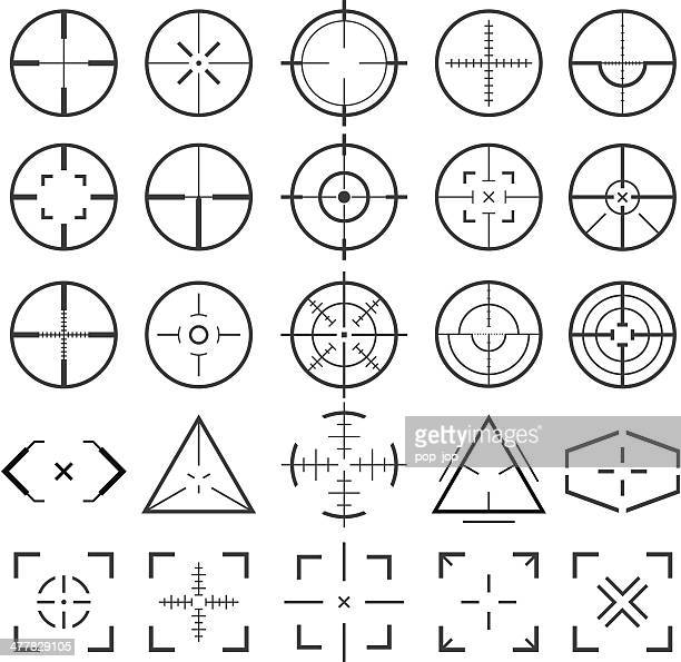 crosshairs - military stock illustrations, clip art, cartoons, & icons