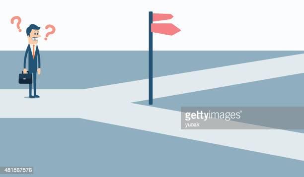 十字路 - 分かれ道点のイラスト素材/クリップアート素材/マンガ素材/アイコン素材