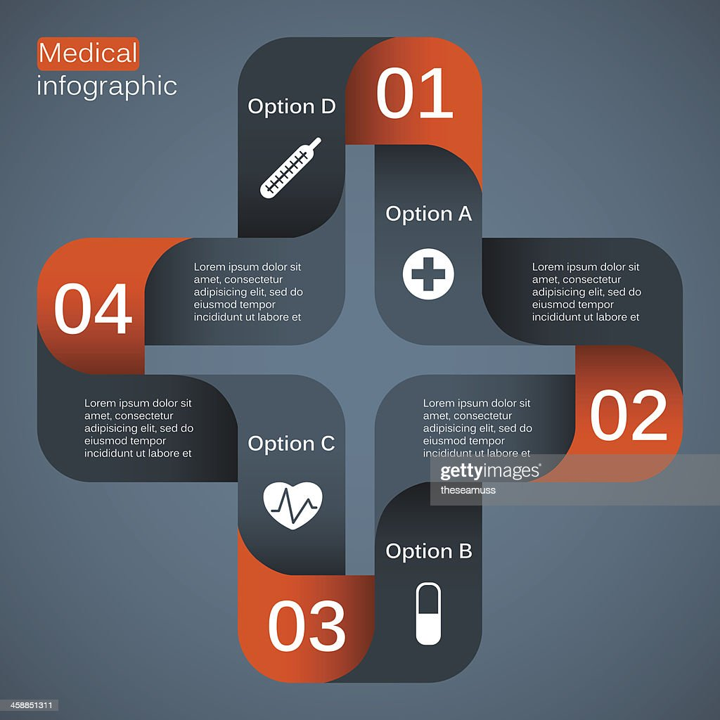 Cross-shaped modern vector medical project template