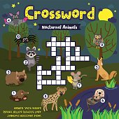 Crossword puzzle nocturnal animals