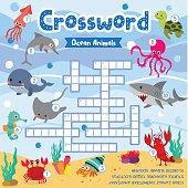 Crossword puzzle ocean animals