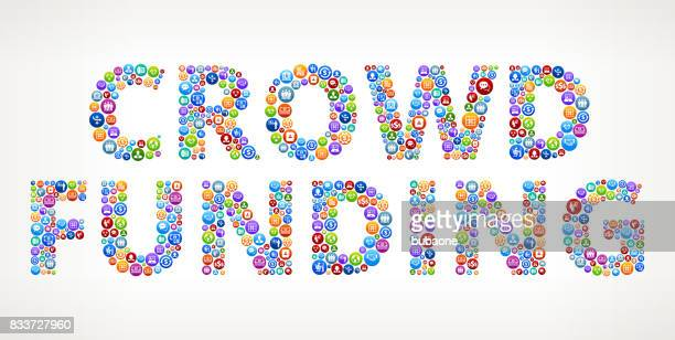 Crowd Funding Business and Finance Vector Buttons