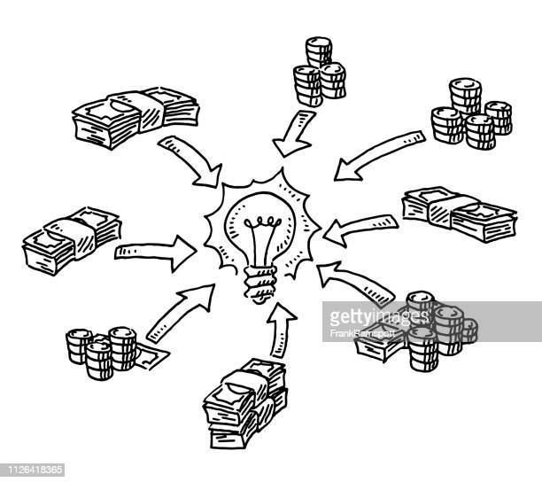 Crowd Funding Concept Money Idea Drawing