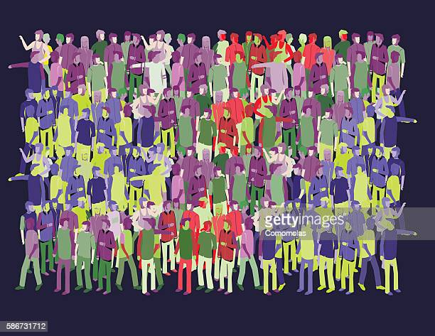 crowd of different people together. - protest stock illustrations, clip art, cartoons, & icons