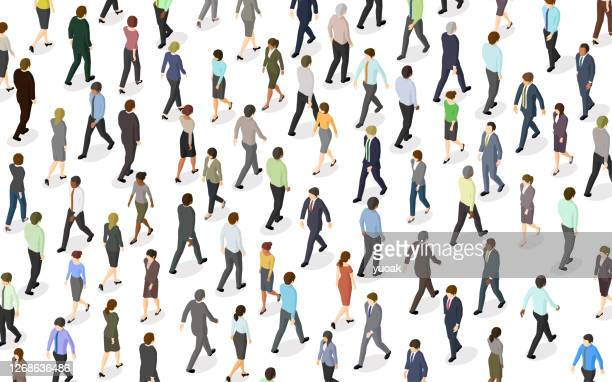 crowd of people walking - large group of people stock illustrations
