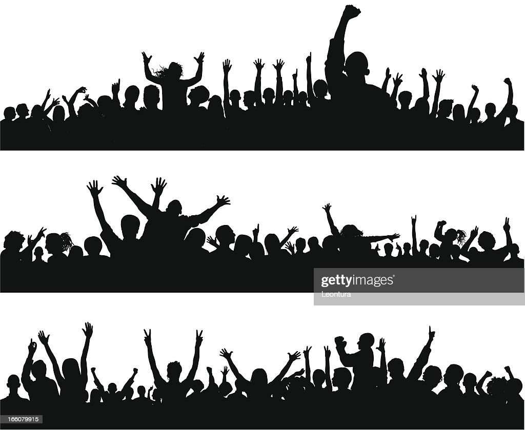 Crowd (86 Complete People- Clipping Path Hides the Legs), Seamless