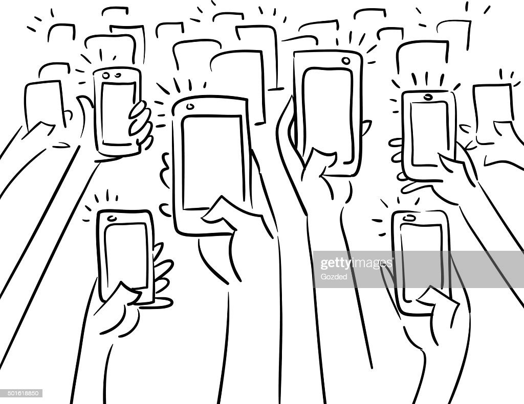 Crowd taking photos