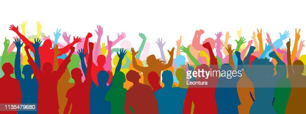 crowd (people are complete- a clipping path hides the legs) - dancing stock illustrations