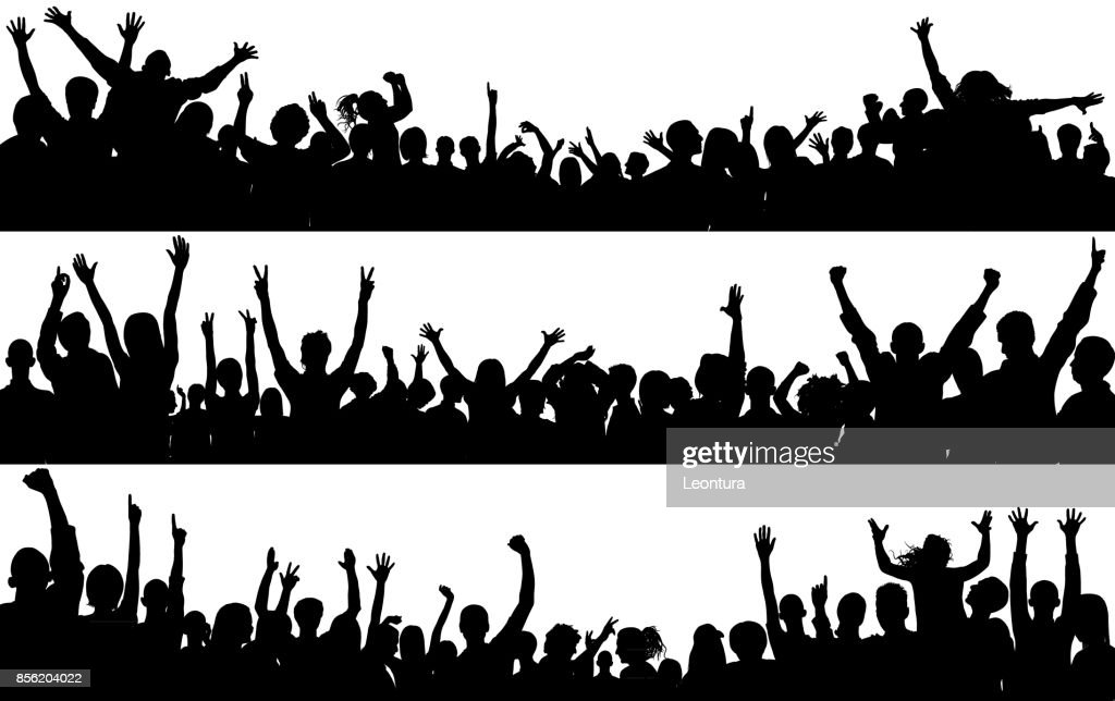 Crowd (People Are Complete- a Clipping Path Hides the Legs) : stock illustration