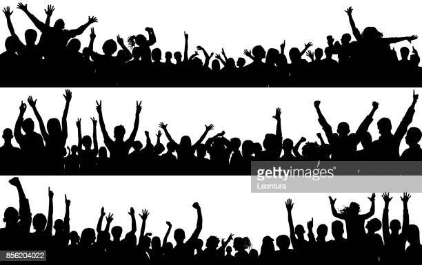 crowd (people are complete- a clipping path hides the legs) - political rally stock illustrations, clip art, cartoons, & icons