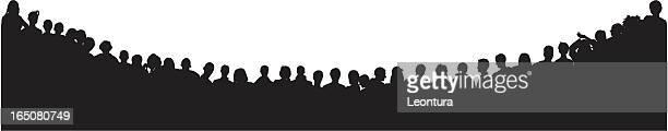 menschenmenge beobachten - große personengruppe stock-grafiken, -clipart, -cartoons und -symbole