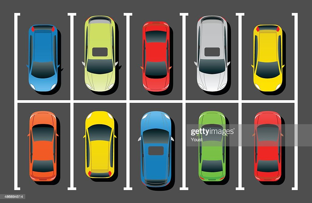 Crowded Car Parking : stock illustration