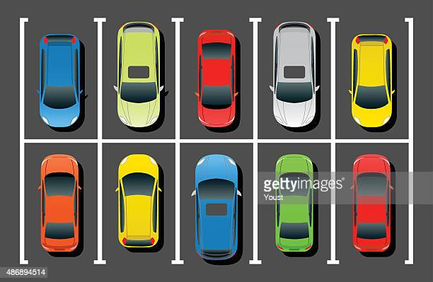 crowded car parking - car stock illustrations, clip art, cartoons, & icons
