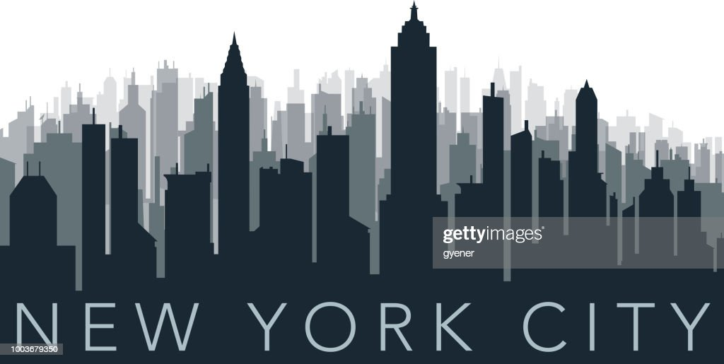 crowded city silhouette : stock illustration