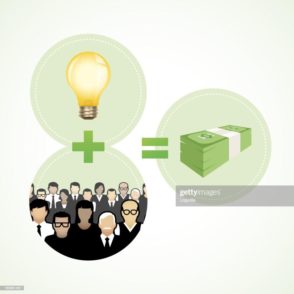Crowdfunding concept : stock illustration