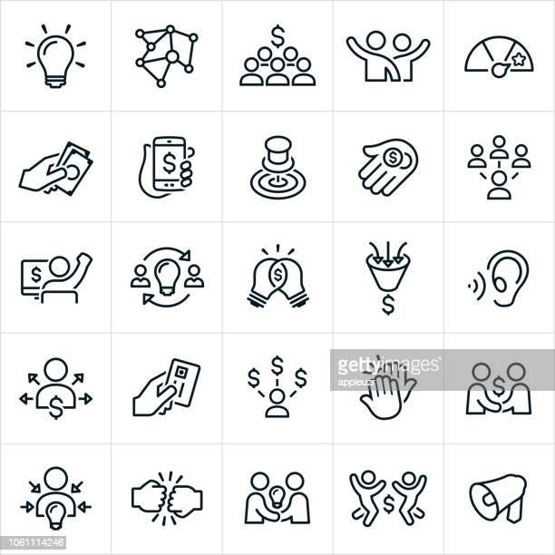 Crowdfunding Icons