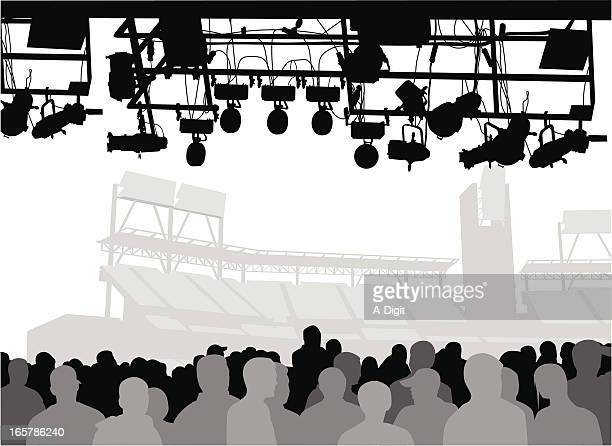Crowd'n Show Vector Silhouette