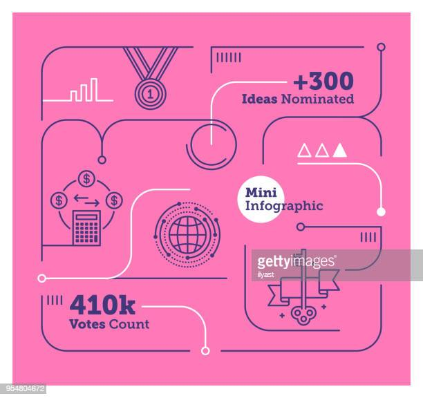 crowdsourcing mini infographic - complexity stock illustrations