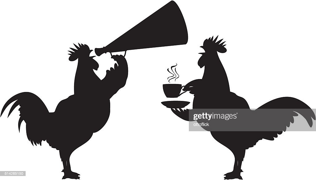 crowing rooster - icon