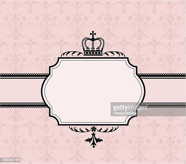 crown banner - princess stock illustrations