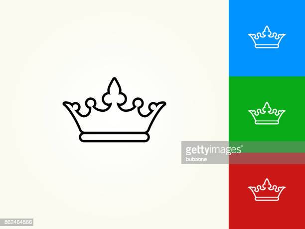 Krone schwarzer Strich lineare Symbol