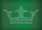 Crown Circuit Board royalty free vector art background