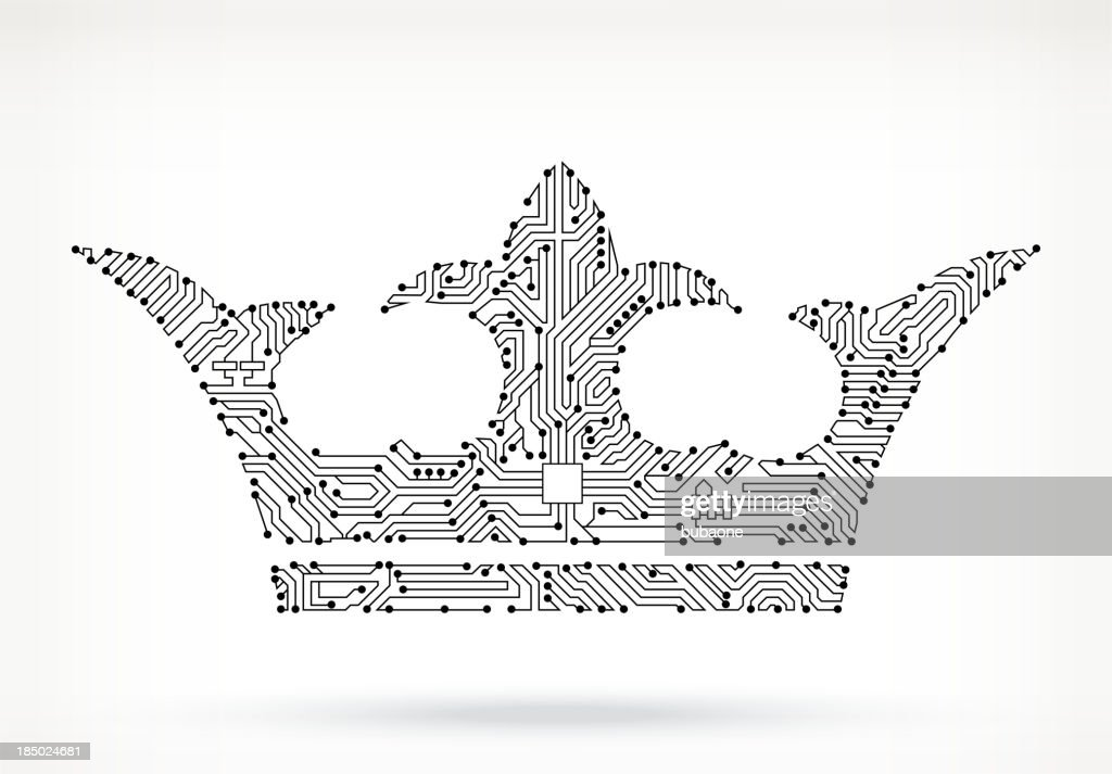 Crown Circuit Board Vector Art   Getty Images