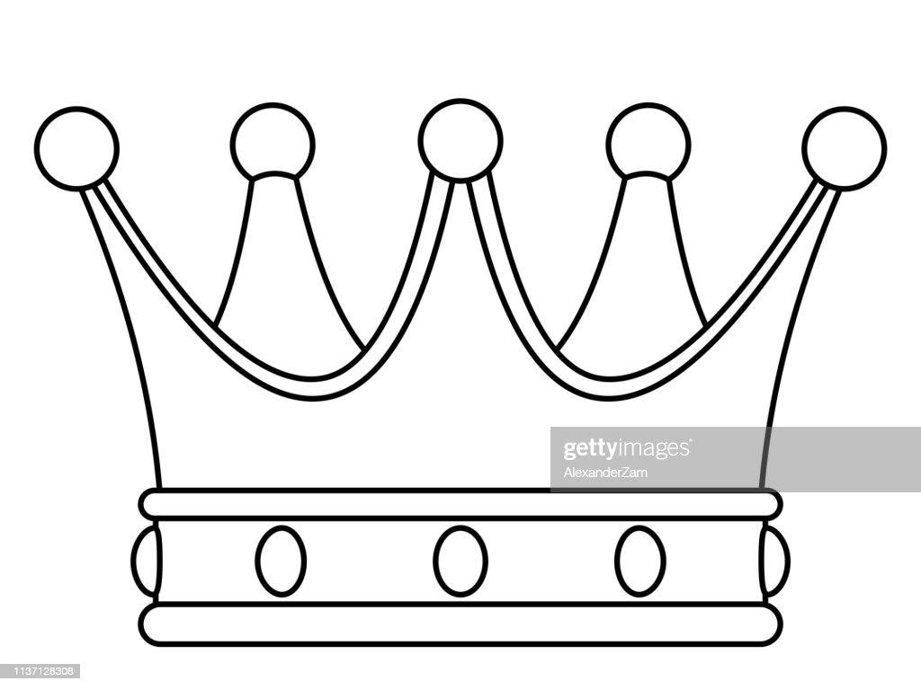 Crown contour illustration