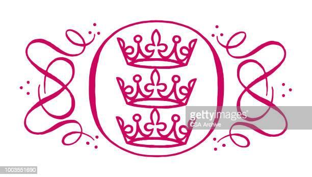 ilustraciones, imágenes clip art, dibujos animados e iconos de stock de elemento de diseño corona - reina de belleza