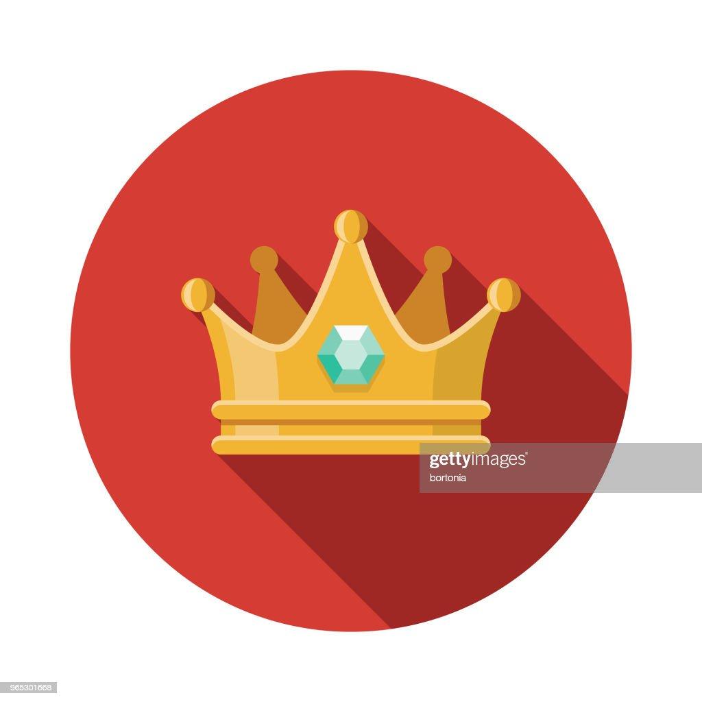 Crown Flat Design Fantasy Icon : stock illustration