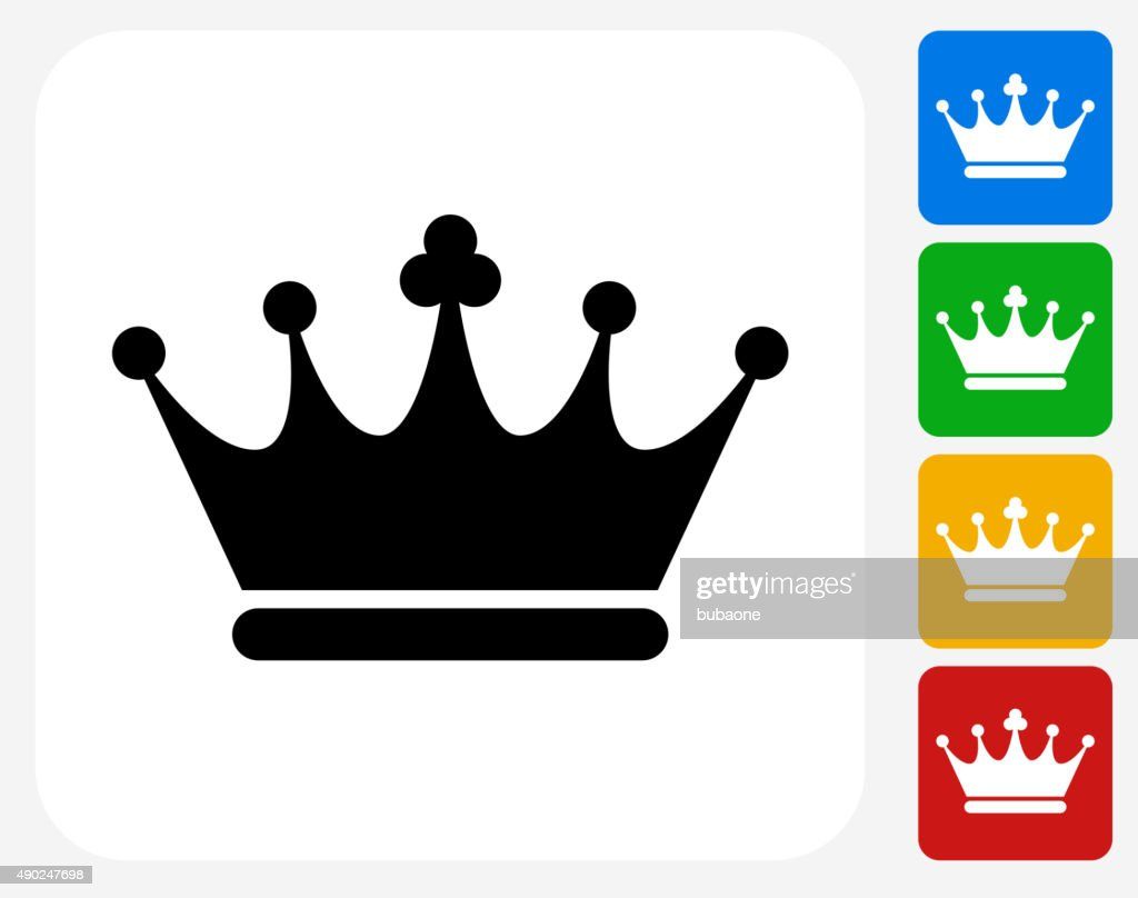 Crown Icon Flat Graphic Design : stock illustration