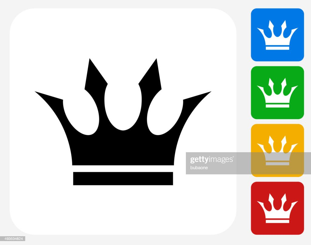 Crown Icon Flat Graphic Design