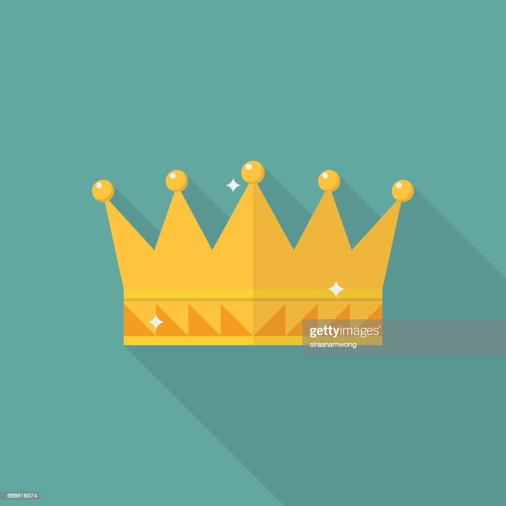 Crown icon in flat style