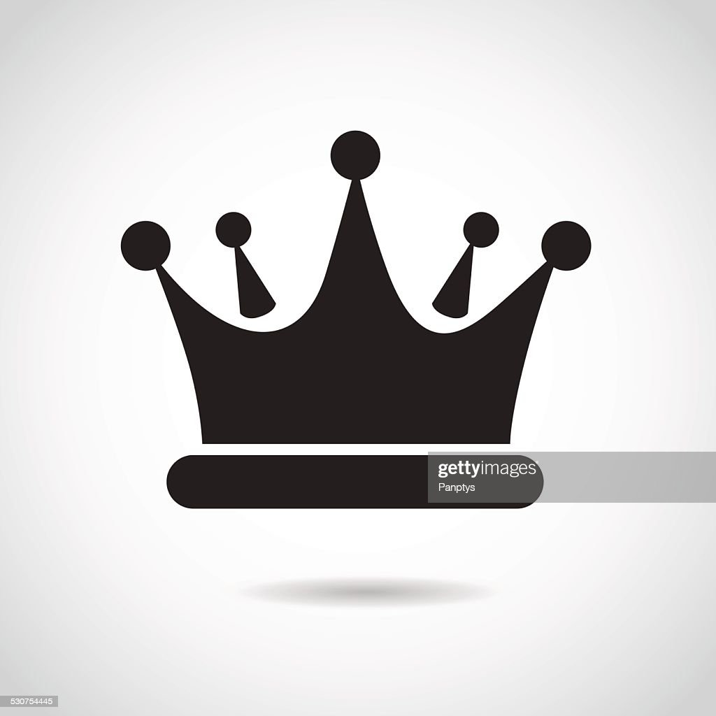 Crown icon isolated on white background.