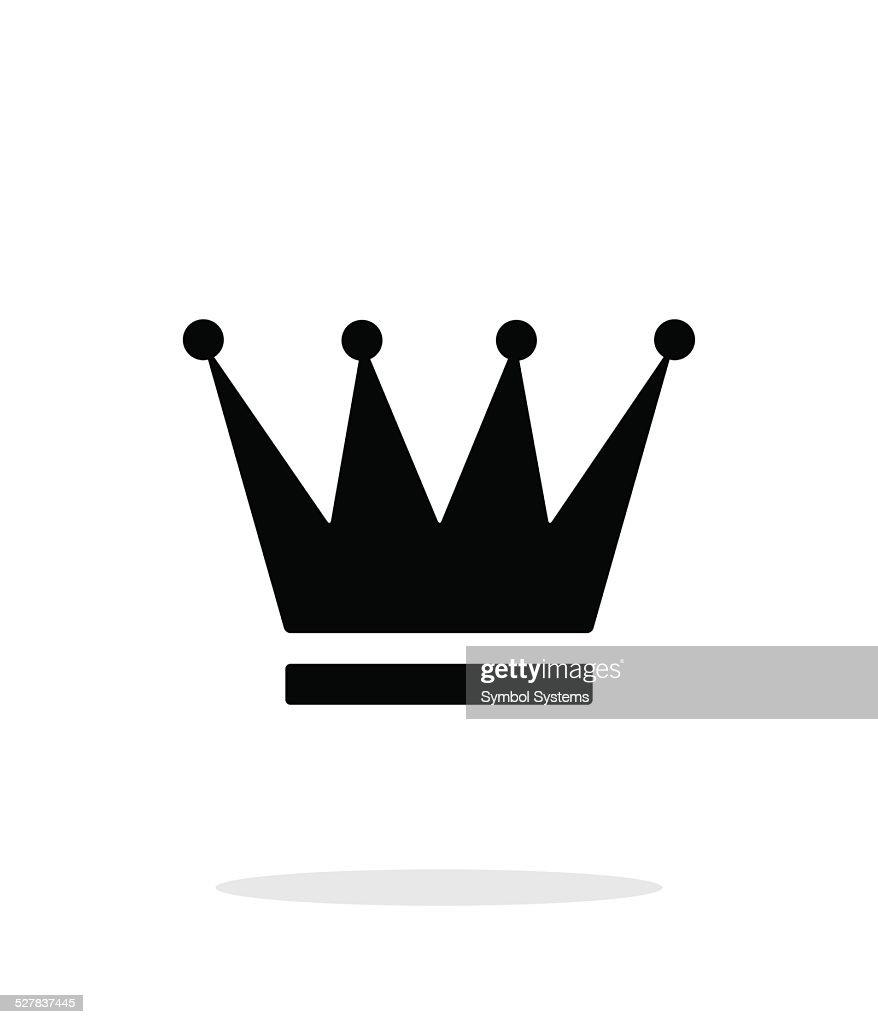 Crown icon on white background.