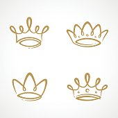 Crown icon set